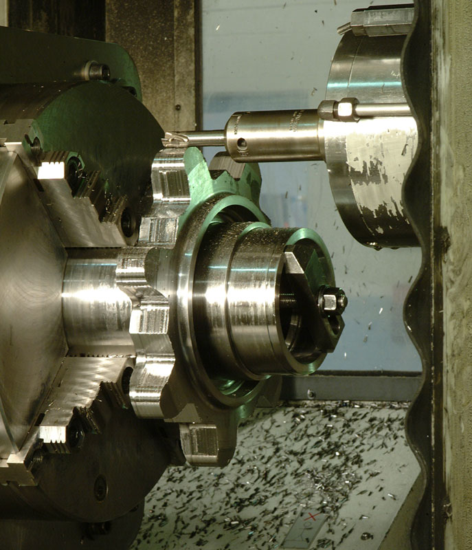 Close-up CNC Milling