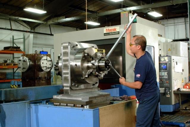 Loading Mazak Paletech Pallet-Loading System